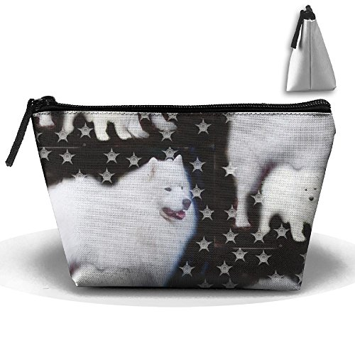 SDEYR79 Travel Makeup Stars Dog Sammies Cosmetic Case Organizer Portable Artist Storage Bag Toiletry Jewelry Bag