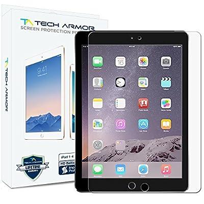 iPad Glass Screen Protector, Tech Armor Premium Ballistic Glass Apple iPad 4 / 3 / 2 / 1 [NOT IPAD AIR] Screen Protector [1] by Tech Armor