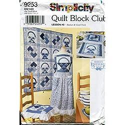 Simplicity Quilt Block Club Pattern 9253 ~ Lesson #3 - Basket & Card Trick