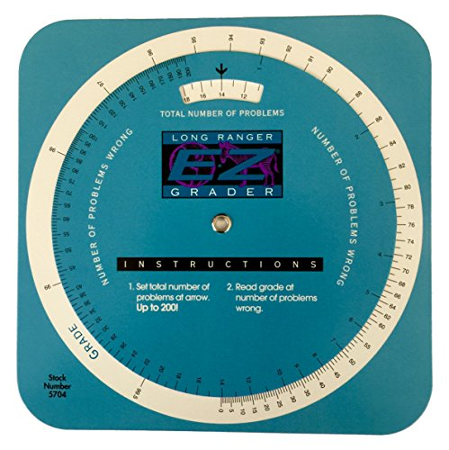 Slide Rule Scales - Grading Calculator - E-Z Grader Teacher's Aid Scoring Chart - Circular Long Ranger
