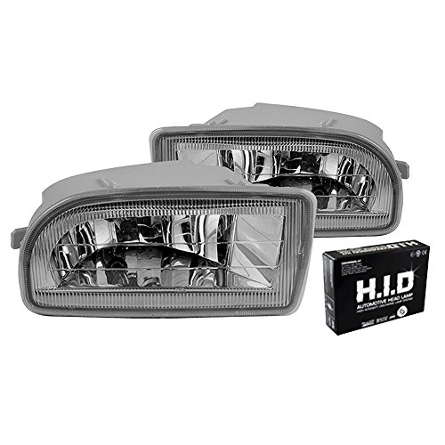 (Winjet Fog Lights Fits 1997-2007 Toyota Land Cruiser   Unpainted Polycarbonate Resin Halo Projector Foglight Replacement Conversion Pair Wiring Kit 6000K Xenon HID Clear by IKON MOTORSPORTS   1998)