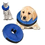 Best Dog Cones - VST Comfy Cone for Dogs Cats,Protective Inflatable Soft Review