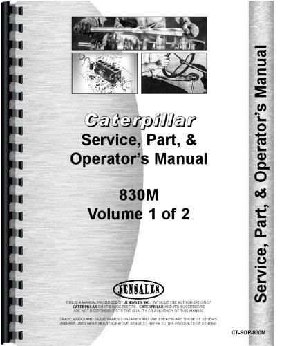 Caterpillar 830M Tractor Dozer Parts Manual