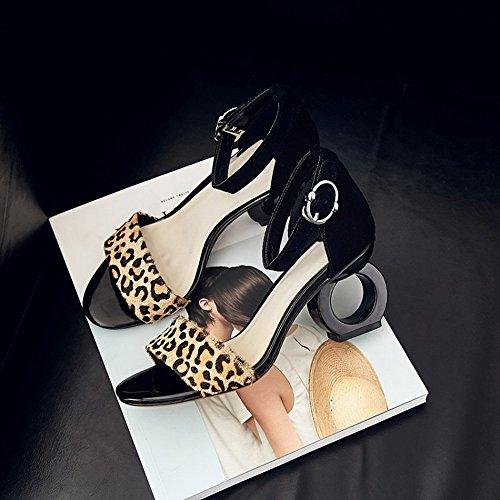 nbsp;segundo Verano Tacón De 35 Palabra Zapatos Una Con Femenino Sandalias Alto Salvaje Dididd Forma ATE7aTx