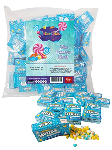 Wonka Nerds Rainbow Mini Boxes Classic Candy Gender Reveal or Baby Shower Its a Boy or Girl Candy (Blue)