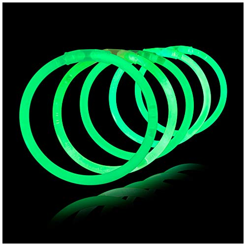 (Lumistick 100 Count Necklace Glow Sticks - 10 Inch Non Toxic Neon Bright Color Long Lasting Party Light Up Bracelet Sticks with Connectors - (100,)
