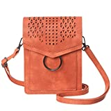 MINICAT Women Portable Small Crossbody Bags Cell Phone Purse Wallet With Credit Card Holder (Orange-Thicker)