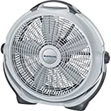 Lasko 20 inch 3 Speed Quiet Air Circulator Wind Machine Portable Pivoting Fan With Durable Plastic Frame