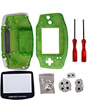Timorn Full Parts Replacement Housing Shell Pack for Game Boy Advance (Transparent Green)