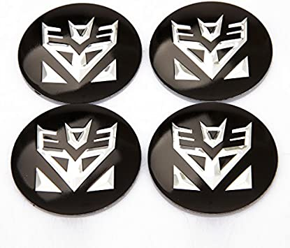 New Chrome Aluminium Black Transformers Decepticons Emblem Badge Car Stickers