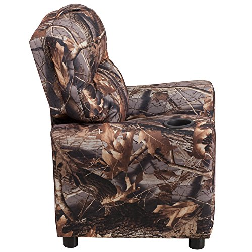 Winston Direct Kids' Series Contemporary Camouflaged Fabric Recliner with Cup Holder