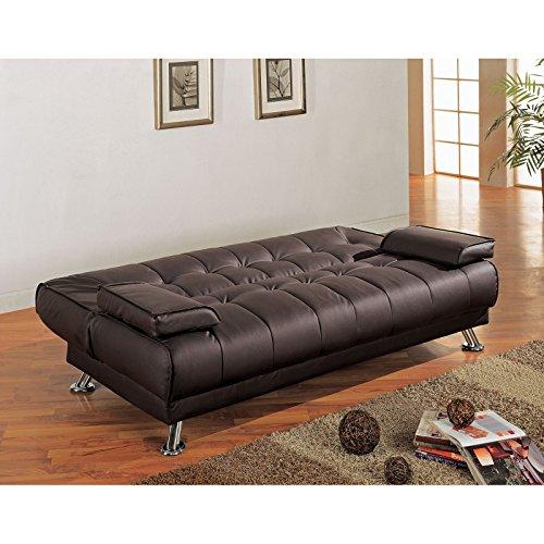 Coaster black diamond convertible sofa by coaster co of for Coaster co of america furniture