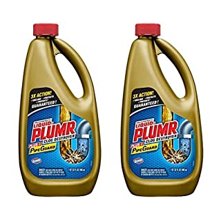Liquid-Plumr Pro-Strength Clog Remover, Full Clog Destroyer, 32 Fluid Ounces (Pack of 2)