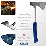 """Estwing Camper's Axe - 16"""" Hatchet with Forged"""