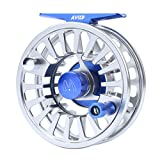 M MAXIMUMCATCH Maxcatch Avid Fly Reel with CNC-machined Aluminum Alloy Body 3/4, 5/6, 7/8wt (Silver, 5/6 wt)