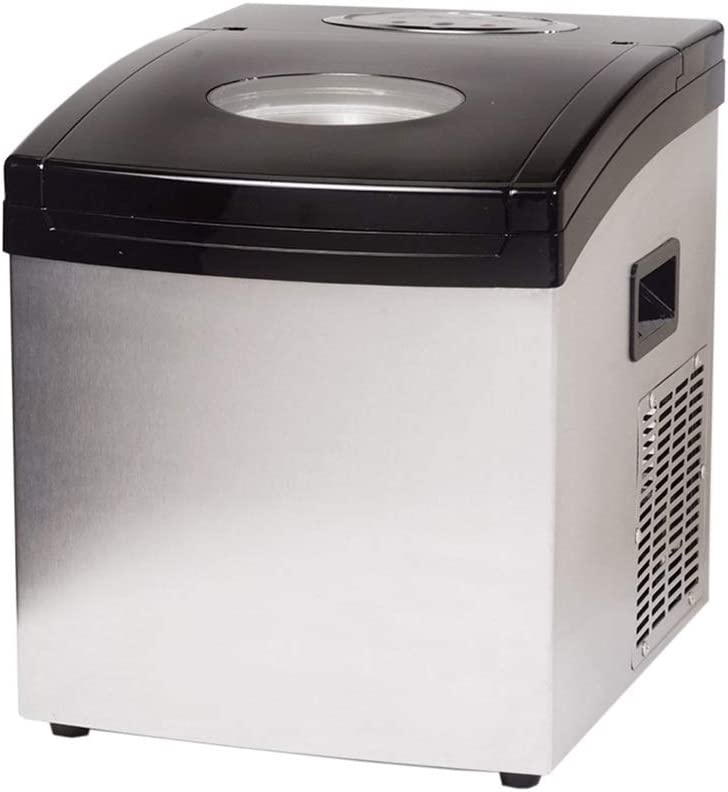 JINDAO Portable Counter Top Electric Ice Machine, Silent & Easy Operation, 25Kg Ice in 24 Hours, 1.5 L Tank