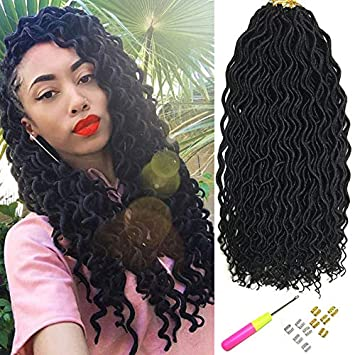 How to straighten curly faux locs