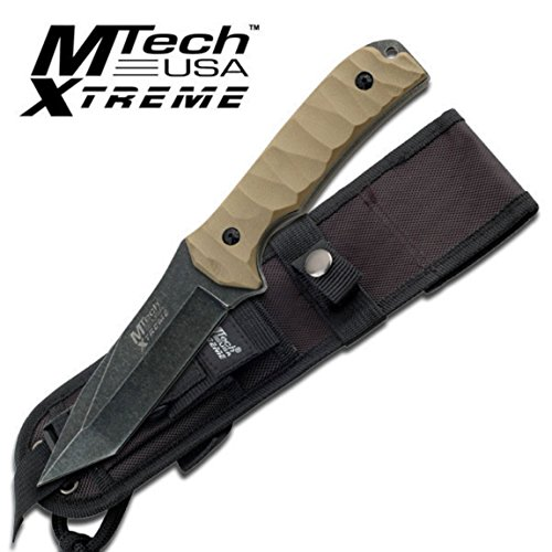 MTech MX-8065 Xtreme USA Fixed Blade Knife, Black/Green, 10-Inch ()