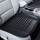 Car Seat Cushion, Transer Breathable PU Leather Bamboo Charcoal Car Seat Cover Pad Mat Protector Auto Chair Cushion (Black)