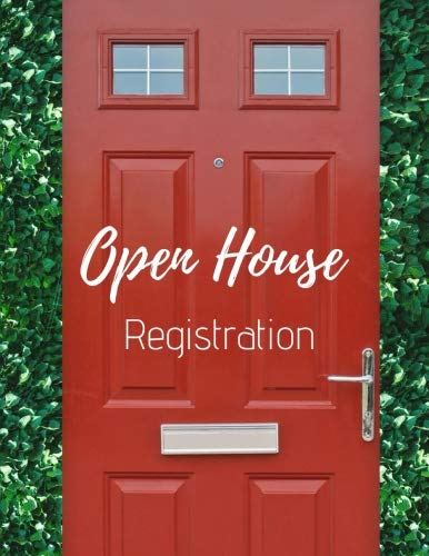 - Open House Registration: Real Estate Agents Guest & Visitors Signatures - Prospects Sign In Registry Book - Red Door - Property Developers