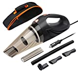 Car Vacuum Cleaner, ANTEQI DC 12 Volt 106W 3 in 1 Multifunction 3.0 KPA Cyclonic Wet / Dry Auto Portable Vacuums Cleaner Dust Buster Hand Vacuum with [ HEPA Filter, 14.7 FT Power Cord , Portable Bag ]