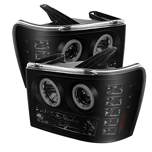 Spyder Auto PRO-YD-GS07-CCFL-BSM GMC Sierra LED Halo Projector - Gmc Euro Headlights