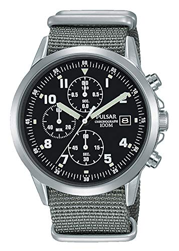 - Mens Pulsar Military Style Chronograph Watch PM3129X1 - Formally and Enhanced PJN305X1