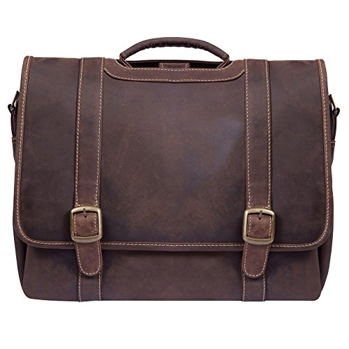 Canyon Outback Old Fort Canyon Leather Laptop Briefcase - Distressed Brown