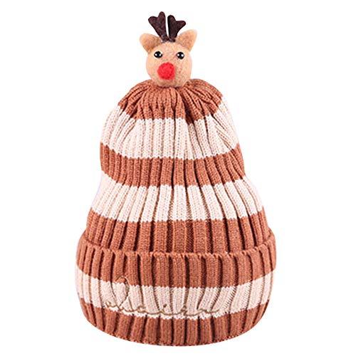 Fawn Beanie - Little Kid Soft Warm Knitted Hat,Jchen(TM) Kid Baby Little Boys Girls Winter Fawn Crochet Knit Hat Striped Christmas Cap for 0-5 Y (Beige)