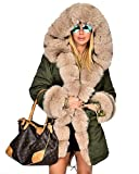 Product review for Roiii Women Winter Warm Thick Faux Fur Coat Outdoor Hood Parka Long Jacket Size 8-18 …