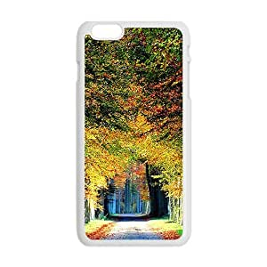 Autumn Forest White Phone Case for Iphone6 Plus