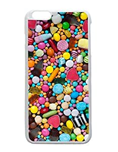 iPhone 6 Plus White Case - Children's Sweets Patterned Protective Skin Hard Case Cover for Apple iPhone 6 Plus with 5.5 inch - Haxlly Designs Case hjbrhga1544