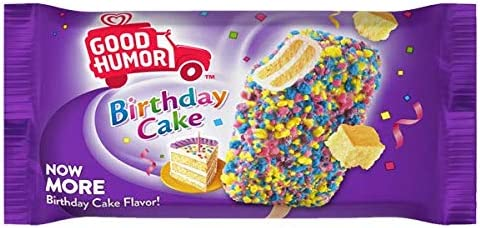 Magnificent Birthday Cake Ice Cream Bar Dessert 4Floz 24 Count Amazon Com Funny Birthday Cards Online Overcheapnameinfo