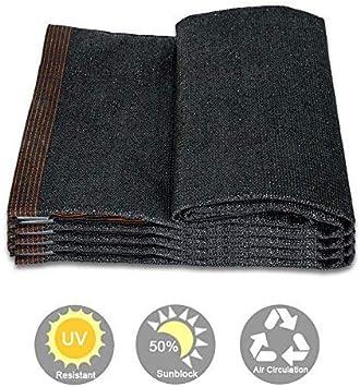 Bloqueador Solar 50% Sombra Paño Sun Net Resistente a los Rayos UV, Tela de Malla de Sombra de jardín para Patio, Cubierta Vegetal, Invernadero, Negro, 3x3m para Playa Camping Piscina Terraza de la p