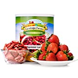 Saratoga Farms Freeze Dried Strawberry Slices, Emergency Food Storage, Snack (7 Oz Can)
