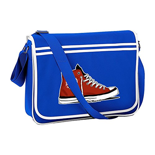 FatCuckoo Blue Cool Graphic Anarchy Bag Messanger Shoulder Basketball Boot Retro From fwRvzq