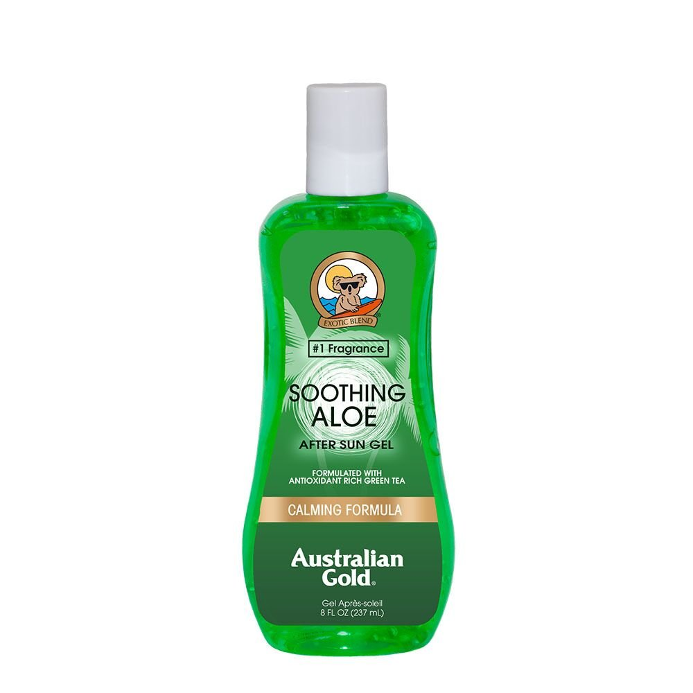 Australian Gold Soothing Aloe Vera After Sun Gel, Relieves Sunburn Pain and Hot & Itchy Skin, 8 Ounce