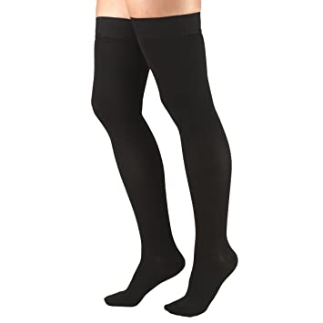 d17c733608 Truform 30-40 mmHg Compression Stockings for Men and Women, Thigh High  Length,