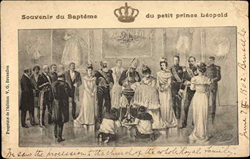 Souvenir of the Baptism of Little Prince Leopold Royalty Original Vintage Postcard from CardCow Vintage Postcards