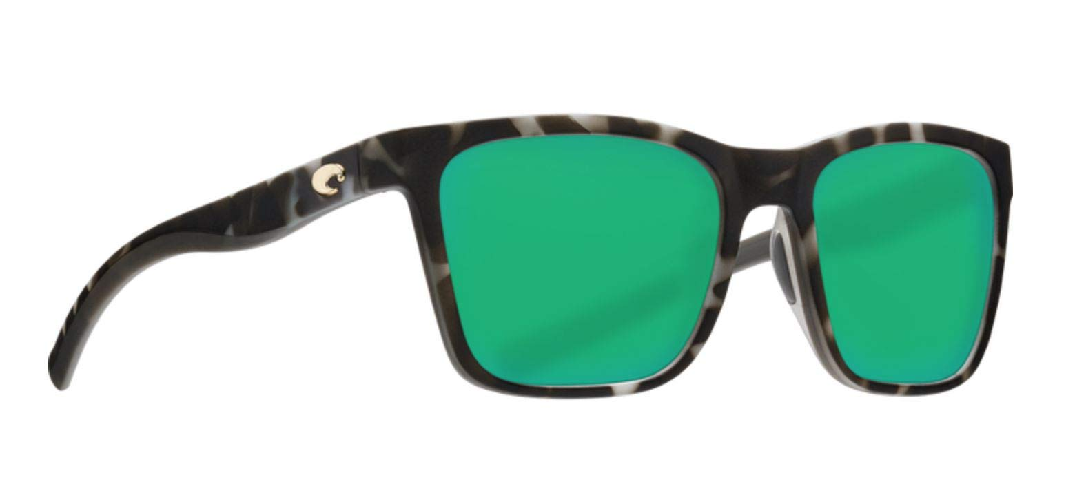Costa Panga Two Tone Plastic Frame Green Mirror Lens Unisex Sunglasses PAG256OGMGLP by Costa Del Mar