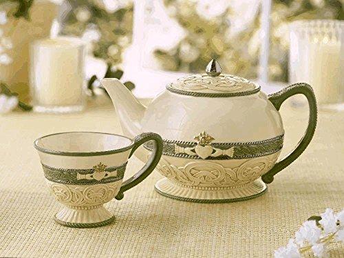 Grasslands Road Celebrating Heritage Celtic Knot and Claddagh Symbol Teapot 58 ounce (Grasslands Road Teapot compare prices)