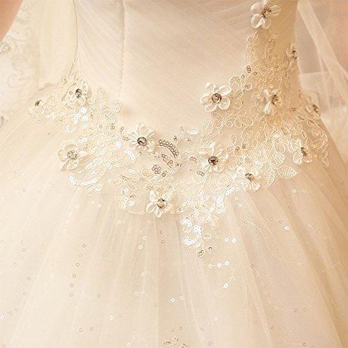 Dress Abito Land Abito Chest Tridimensionale Da Lace MO Sposa XL CL Wipe Qi Wedding EY4qxvnf