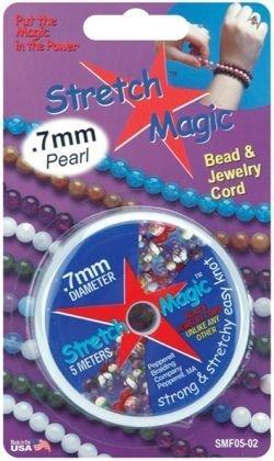 Stretch Magic Bead & Jewelry Cord .7mmx5m-Pearl
