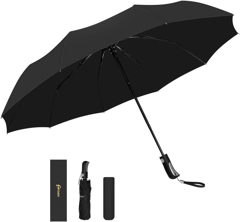 Automatic Compact Travel Umbrella Teflon Auto Open Close Folding Strong Windproof Neon Figure Form Alloy Umbrella