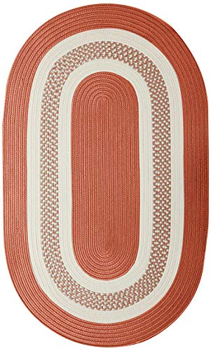 Crescent Oval Area Rug, 5 by 8-Feet, Terracotta