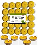 50 Citronella Tealight Candles - Deet Free Natural Insect Mosquito Repellent - Indoor/Outdoor - 50 Pack - MADE IN USA