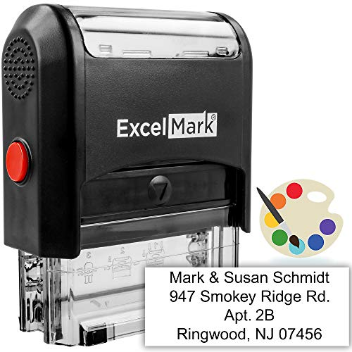 Self Inking Rubber Stamp with up to 4 Lines of Custom Text ()