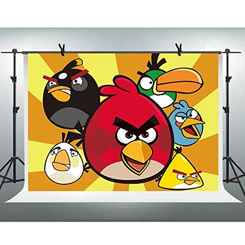 (FHZON 10x7ft Colored Bird Backdrop Photography Cartoon Background Child Baby Newborn Photography Photo Shoot Studio Props)