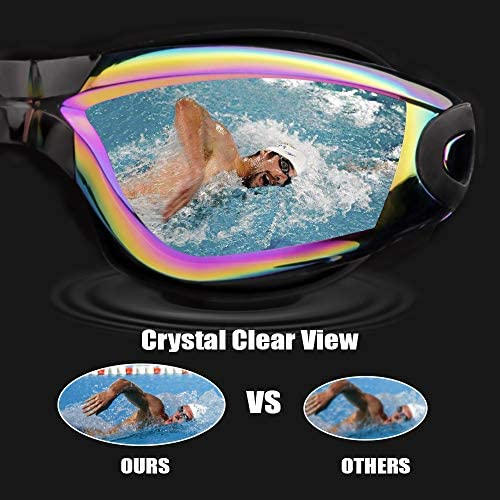Vorshape Swim Goggles Pack of two Swimming Goggle No Leaking Anti Fog UV