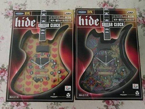 非売品!! X JAPAN hide ギター型 壁掛け時計(ウォールクロック ) 全2種セット B073S62PN4